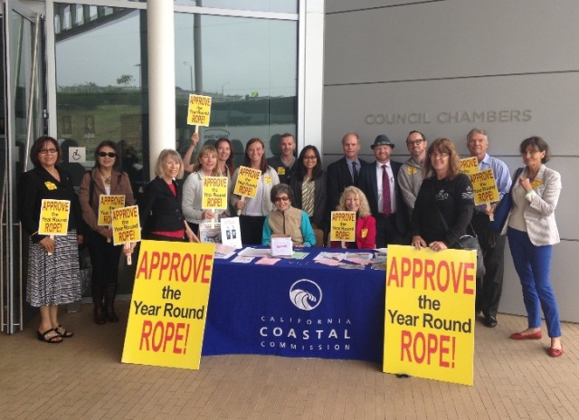 Here are some of the dedicated seal supporters that made the trip to Newport Beach, CA.