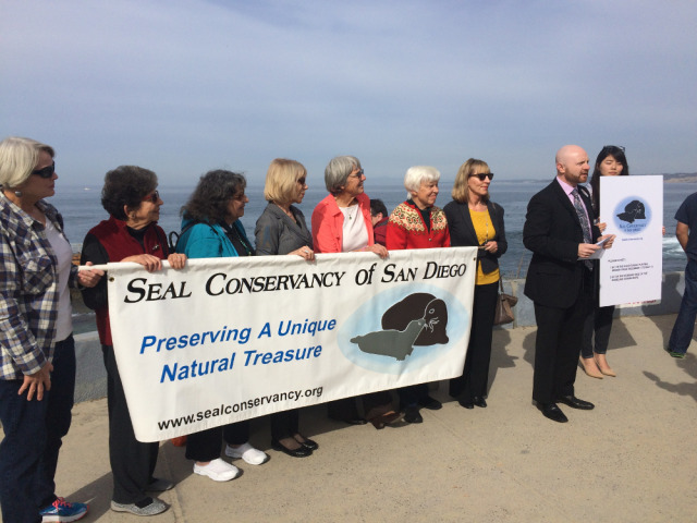 media event for beach closure small
